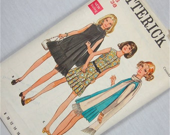 Vintage 60s Does 20s Dress Sewing Pattern, Butterick, 5631