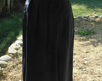 Vintage 80's Authentic Gucci Navy Blue Long Lana Wool Skirt