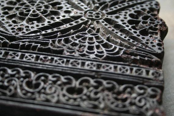 Old Wooden Print Block
