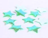 Dollar Sale Clearance - Green star mini shiny iridescent applique 10mm 10pc (171) - SALE