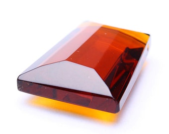 Topaz brown focal pendant - bead glass - faceted trapezoid drop pendant - 20mm x 28mm - 1 piece (460) - Flat rate shipping