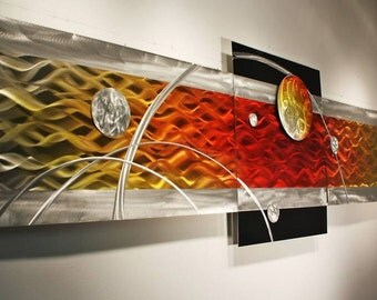 Modern Abstract Metal Wall Art Decor Painting, Design by Alex Kovacs - AK342