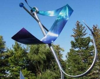 Metal Art Anchor Sculpture, Indoor or Outdoor Sculpture, Nautical Art, Design by Alex Kovacs - AK179