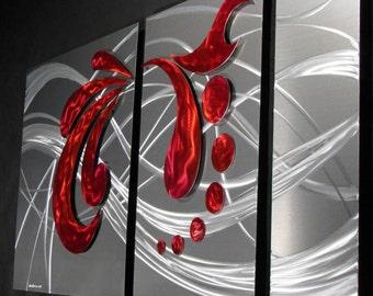 Abstract Metal Wall Art Painted Sculpture Decor, Design by NY Artist Alex Kovacs - AK232
