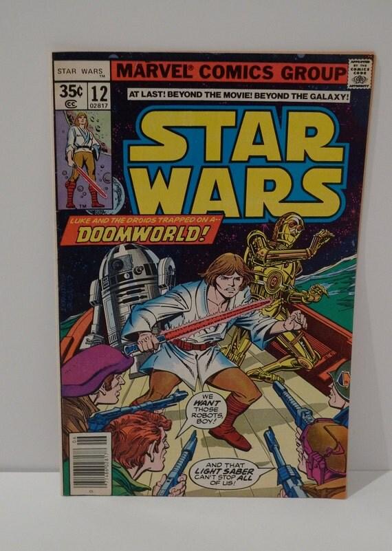 Star Wars Comic Book Threepio Luke Skywalker Droids 1977 12 Marvel Trapped on Doomworld George Lucas   FREE Shipping