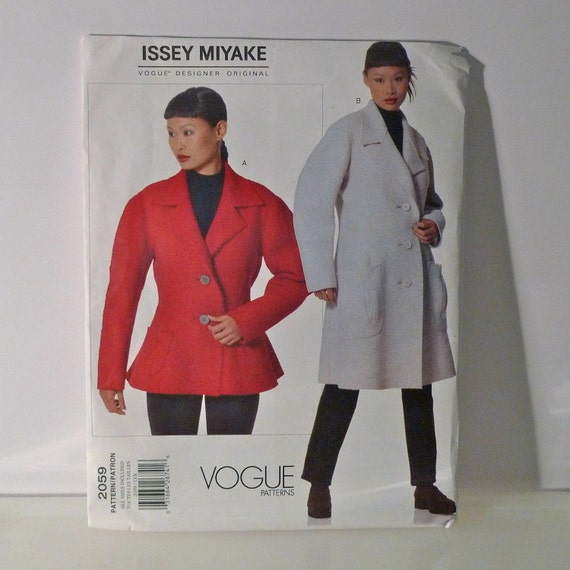 Issey Miyake Sewing Pattern FF uncut coat jacket Vogue 2059 Designer Original authentic fashion one size all sizes