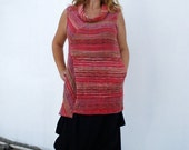 CHRISTMAS SALE Hand Loomed Cotton Vest or Sleeveless Tunic
