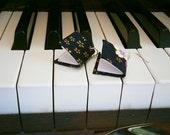 Mini Book Earrings (Orchid Batik)