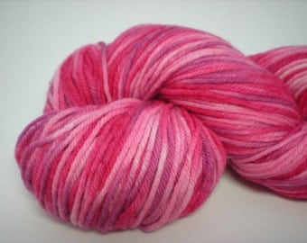 Pink and Lilac Hand Painted Yarn