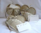 Hearts pillows, Shabby Valentines Pillows, linen hearts, set of 3