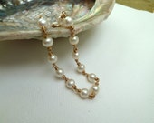 Pearl and Gold bracelet - FREE UK SHIPPING