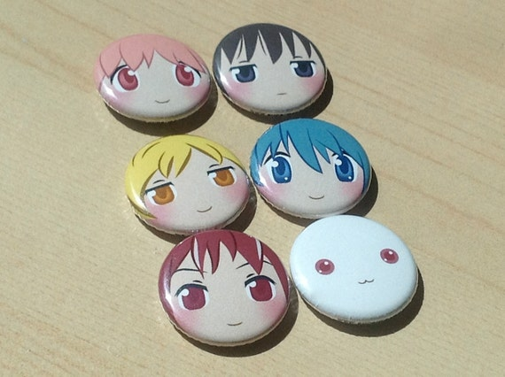 Magical Girl Button 6-Pack