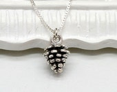 Silver Pinecone Necklace, Sterling Silver,Gift, Christmas Gift, Holiday Necklace, Holiday Gift