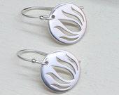 Silver Lotus Earrings - Round Lotus Earrings