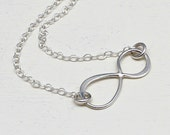 INFINITY Necklace in Sterling Silver, Silver, Love,Graduation,  Eternity, Simple, Delicate, Figure Eight, Frienship, Bridesmaids, Wedding