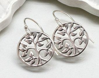 Silver Tree of Life Earrings, Sterling Silver
