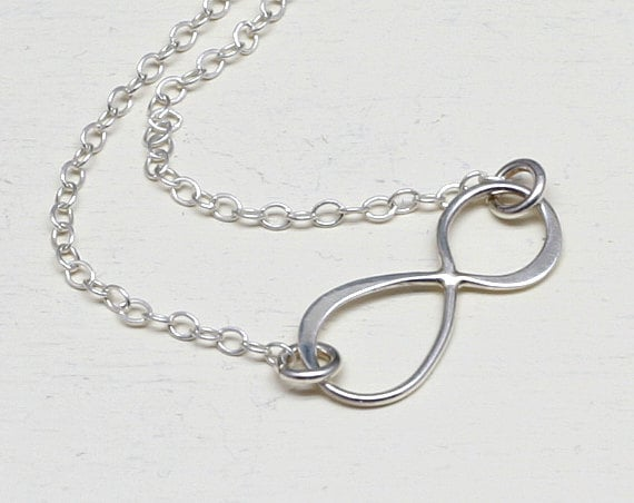 Sterling Silver INFINITY Necklace, Silver, Graduation, Love, Eternity, Simple, Delicate, Figure Eight, Frienship, Bridesmaids, Wedding