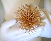 RESERVED vintage Vendome gold sunburst brooch