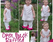 Open Back Dress and Ruffled Pant Set 18-24 month size.