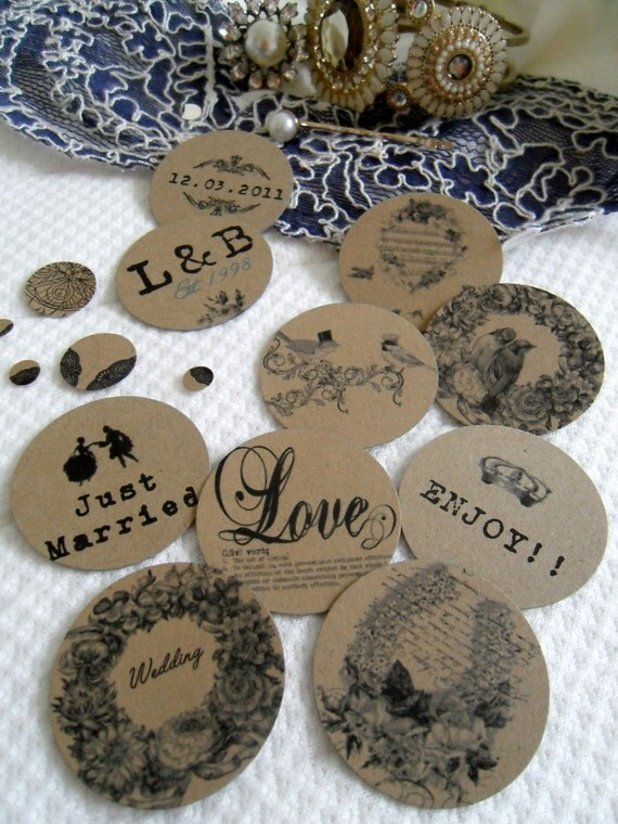 400 Large Vintage, Shabby Chic, Antique, Table Confetti Decoration, Customized for Wedding, Reception, Venue.
