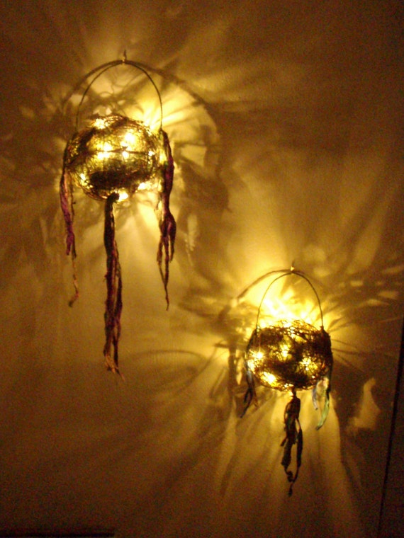 Rustic Firefly Fairy Lantern -  wedding accessory - garden party