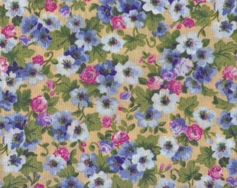 Spring Floral Fabric, Spring Time Floral Bouquet, Country Floral Fabric, Floral Fabric, Country Fabric, 1 yard Fabric, 00142