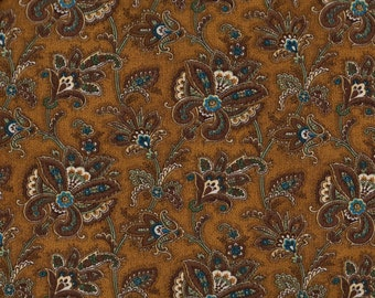 Brown And Teal Turquoise Fabric Etsy