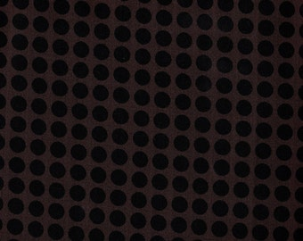 Black Fabric, Black Polka Dot Fabric, Polka Dot Fabric, Brown Fabric, Quilters Candy by Connecting Threads, Fabric, 00738