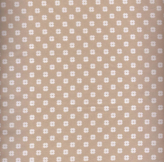 Floral Fabric, Melodies by Exclusively Quilters, Tan Fabric, Beige Floral Fabric, 1 yard Fabric, 01587