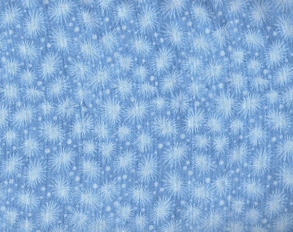 Blue Fabric With Snowflakes Snowflake Fabric Blue Fabric