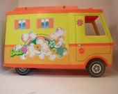 Reserved for Ashley Louthan Vintage 1970 Barbie Camper Orange and Yellow