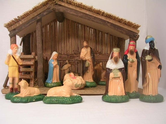 Vintage Sears Nativity Set
