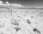 Desert Fence Photograph, 8x10
