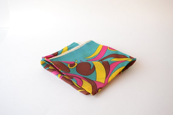 vintage silk scarf / pucci-like psychedelic shapes and colors