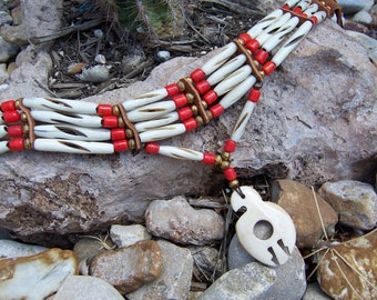 Carved Bone Eagle Choker