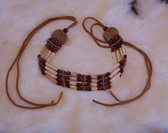 Brown & Copper Basics Choker Necklace by PrimitiveDesignsTX