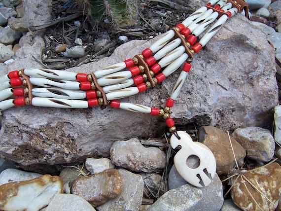 Carved Bone Eagle Choker