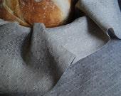 Handwoven  Linen Bread Cloth, Table Mat or Basket Liner
