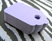 Handmade Gift Tags 50 Lilac Linen Textured Cardstock-Medium