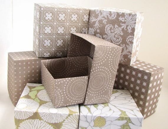 Gift Boxes Hand Folded Origami Elegant Chocolate Mousse