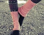 Leg Warmers Cable Knit Leg Warmers Pink Leg Warmers Teen Leg Warmers Womens Leg Warmers