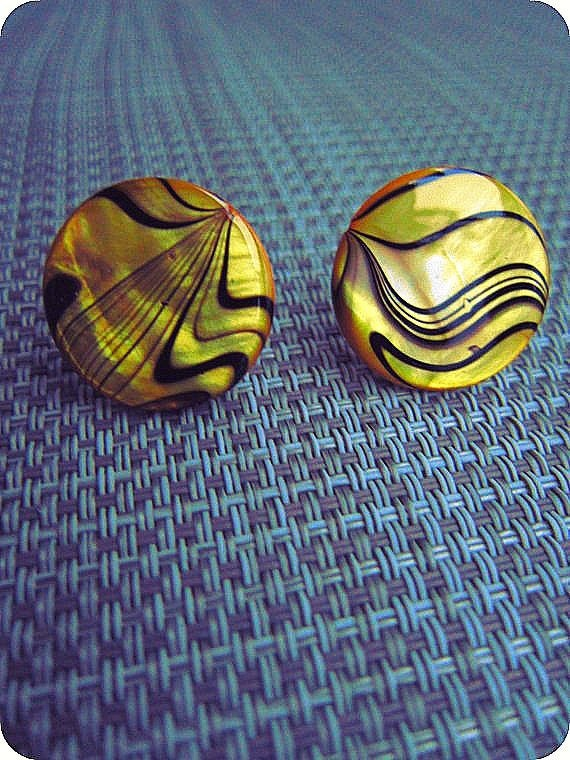 Yellow and Black Post Earrings Accessories Fun Quirky Post Earrings