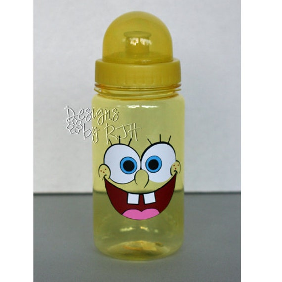Sponge Bob - 15oz Personalized Sports Water Bottle - For Kids - Party Favors, Gifts - Fun Colors