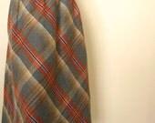 Plaid Wool Schoolgirl  Skirt
