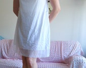 Vintage White Striped Nightgown
