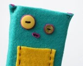 HALF PRICE Sock Monster iPhone Case Made from love and felt