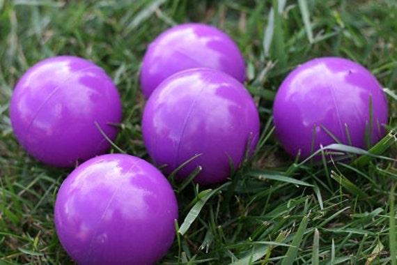 5 Upcycled Juggling Balls - Purple