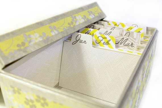 Yellow and Gray Perpetual  Desktop Calendar