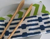 Reserved Just For You - Navy and Green Placemats and Napkin Set