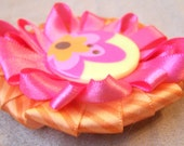 Summer Sherbert  Hair Bow / Head Band Clip